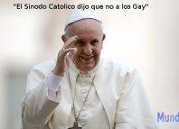 El Sínodo familiar de la Iglesia Catolica, por ahoar no aceptara el ministerio de gays y divorciados