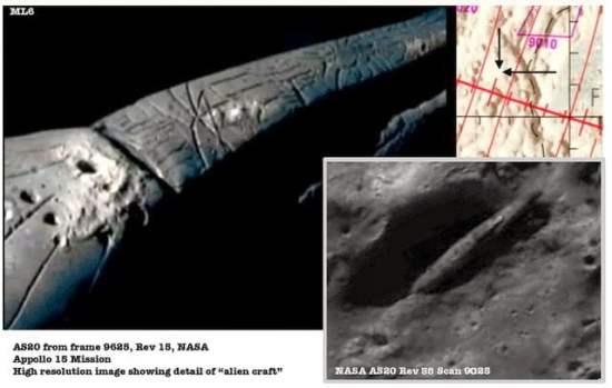La enorme nave espacial descubierta en la Luna sigue siendo un misterio   Luna Anomalías