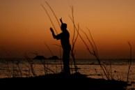 Roy pescando, Represa de Aswan - Sudão