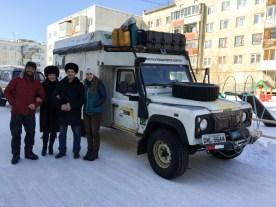 Elena e Sasha, em Yakutsk