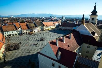 Sibiu na Transilvânia