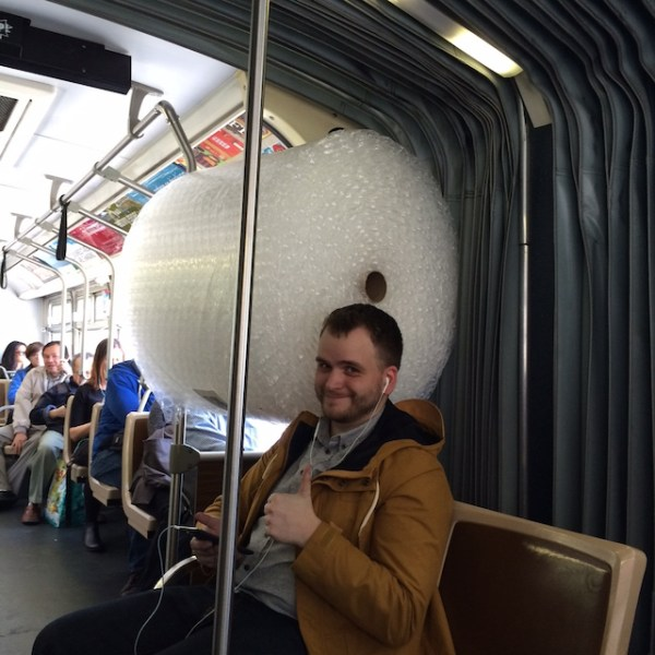 bubble wrap on Muni