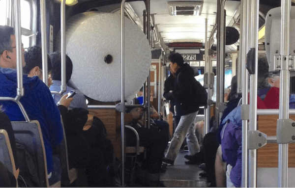 bubble wrap on muni by lorena