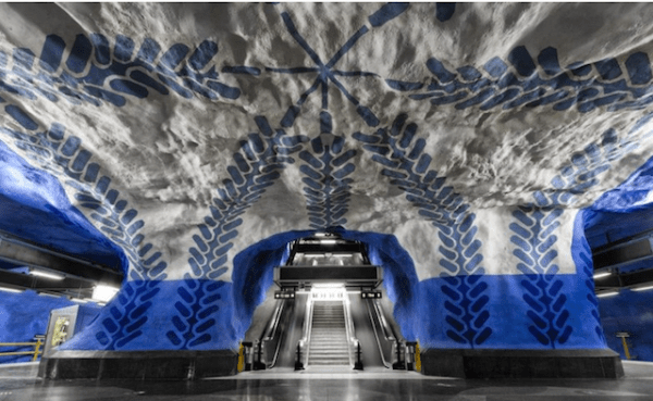 fantasy swedish subway station