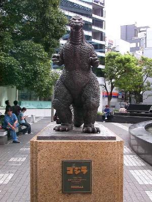 Godzilla statue in Ginza, Tokyo, Japan