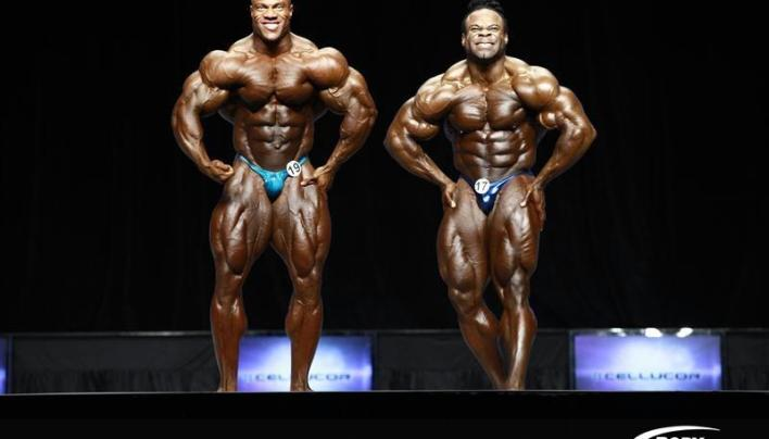 2012 Mr.Olympia Prejudging Last call-out Phil Heath Vs Kai Greene Photos!