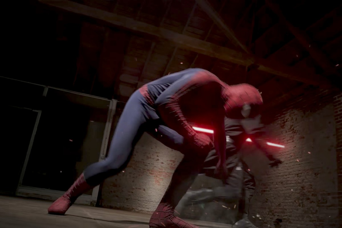 Spiderman VS Darth Maul