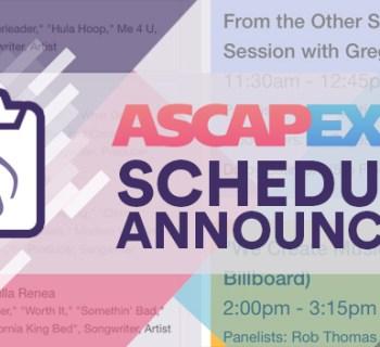 ascap expo schedule 2016