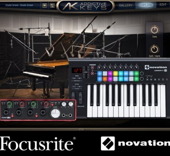 XLN Addictive Keys bundled with Focusrite and Novation