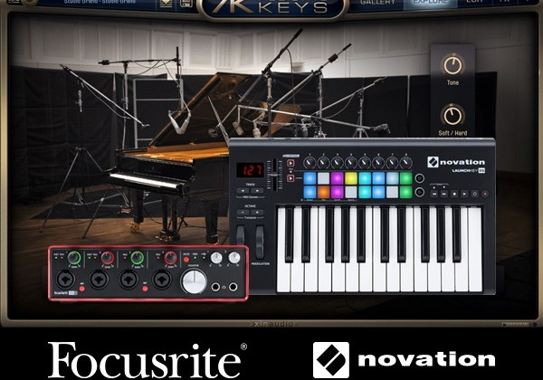 XLN Addictive Keys bundled with Focusrite and Novation