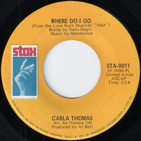 "Carla Thomas – Where Do I Go (Stax) [7""] '1968"
