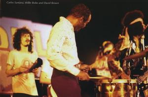 Carlos Santana, Willie Bobo and David Brown 1971