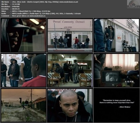 2Pac feat. Elton Jonh – Ghetto Gospel [2004, DVDrip] Music Video (Re:Up)
