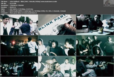 John Dahlback – Blink [2007, DVDrip] Music Video