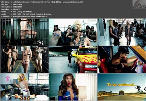Lady GaGa & Beyonce - Telephone (2010, Pop, HDrip 1080p)