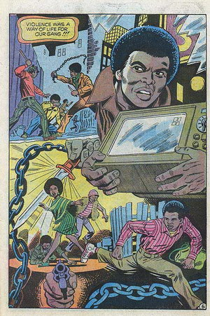 Up From Harlem comix: Violence was a way of life for our gang!!!