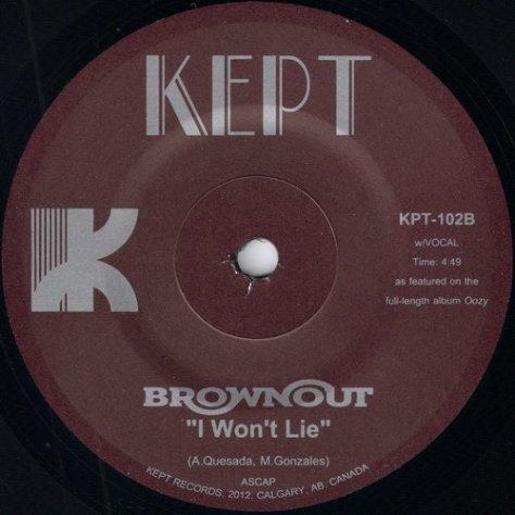 Brownout - I Won't Lie (Kept Records)