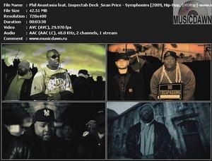Phil Anastasia feat. Inspectah Deck & Sean Price - Symphonies (2009, Hip-Hop, DVDRip)