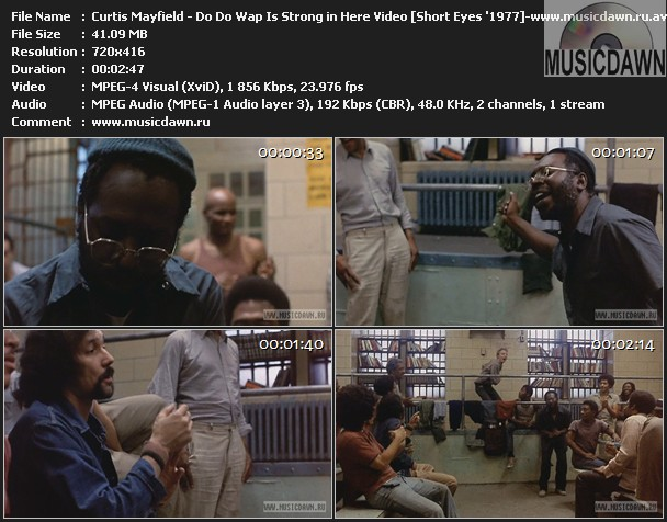 Curtis Mayfield - Do Do Wap Is Strong in Here Video (Scene from Short Eyes '1977)
