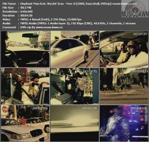 Elephant Man feat. Wyclef Jean – Five-O [2008, DVDrip] Music Video