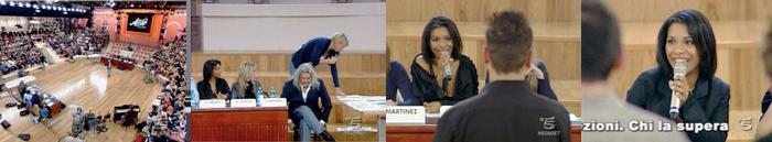 Karin Mensah nella giuria di Amici Casting 2009 di Maria De Filippi - Canale 5
