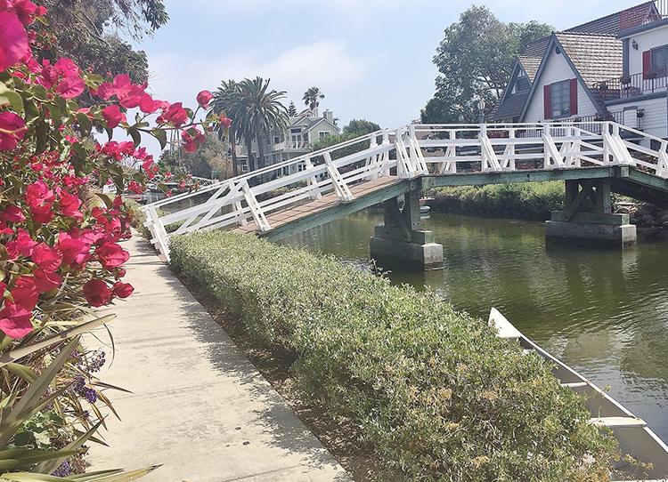 Around LA Venice Beach Flower Canal
