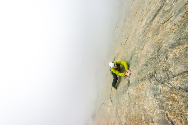 The first 7c pitch in 'atmospheric' conditions! Photo- Alexandre Buisse