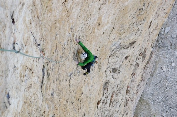 Dave seconding on one of the lower pitches. Photo- Calum Muskett
