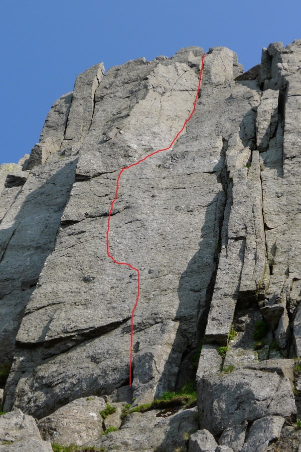 The line of 'Sentinel', E8 6c. Photo- Calum Muskett