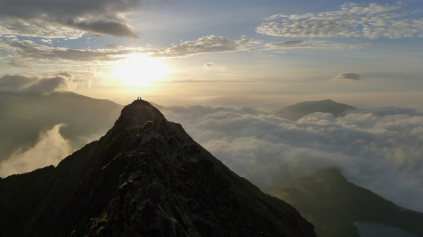 Sunrise over Crib Goch. Photo- Calum Muskett