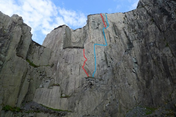 The line of the Quarryman is in blue whilst the two new E6's are the red lines. Photo- Calum Muskett