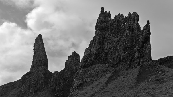 Impressive rock architecture on the Old Man of Storr. Photo- Calum Muskett