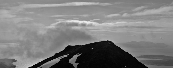 Distant walker on Bla Bheinn, Skye. Photo- Calum Muskett