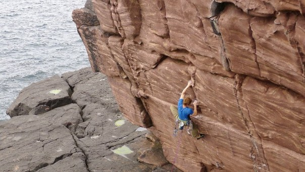 After work climbing at Reiff, one of the finest crags in the North-West of Scotland. Photo - Andy Moles