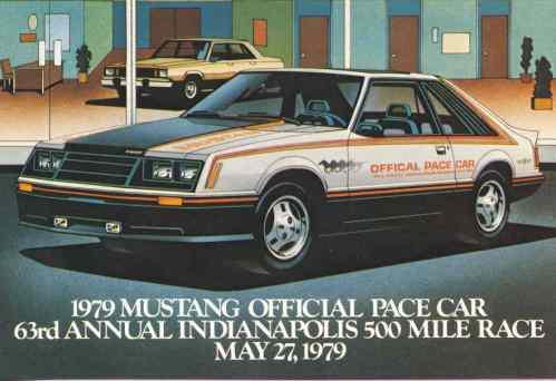 Rys. 4. Mustanga jako Oficjalny Pace Car przygotowany na 63. Indianapolis 500