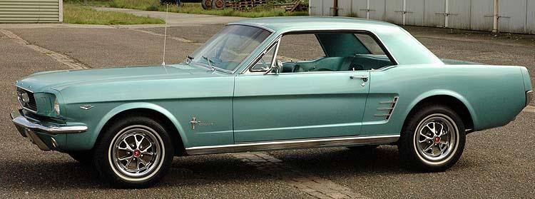 Ford Mustang 1966 Tahoe Turqouise