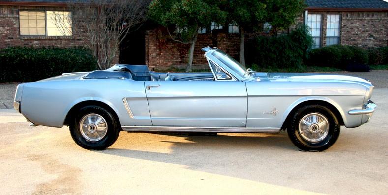 Skylight Blue 1964 Mustang Convertible