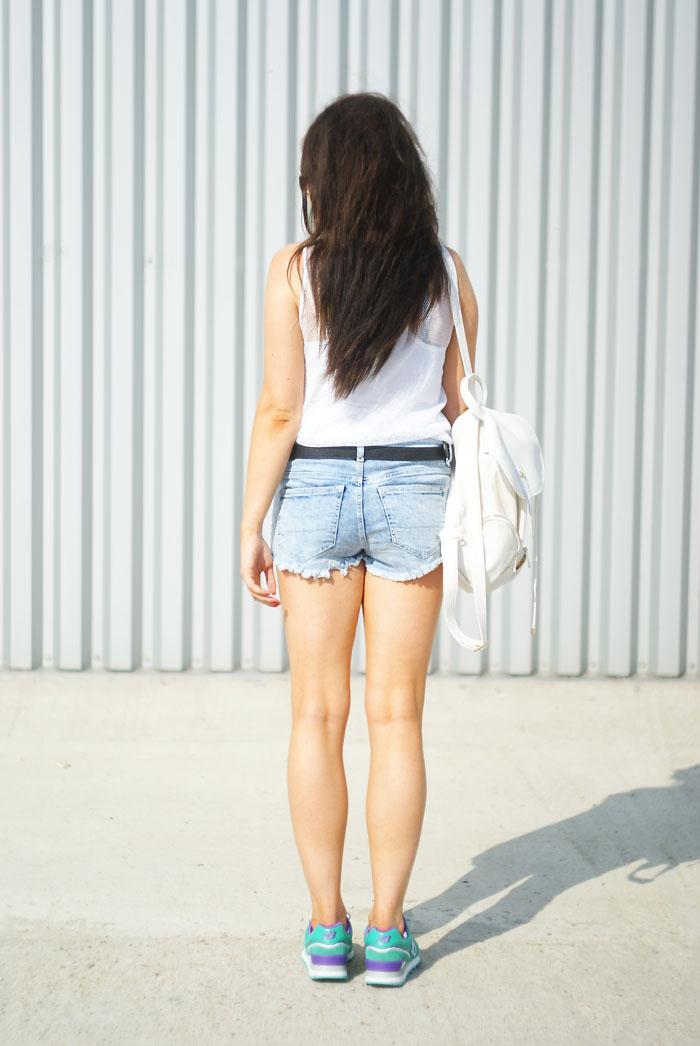 szorty jeansowe porwane