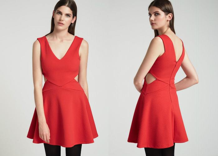 czerwona sukienka topshop