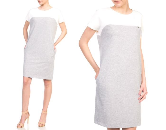 sukienka dresowa szara