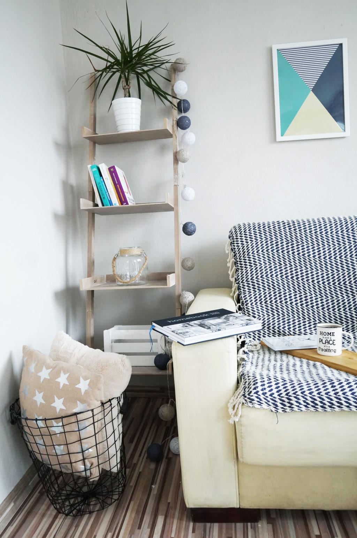 skandynawski styl salon mieszkanie