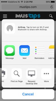iOS facebook desktop version
