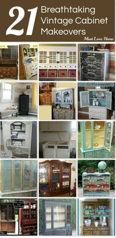 21 Breathtaking Vintage Cabinet Makeovers