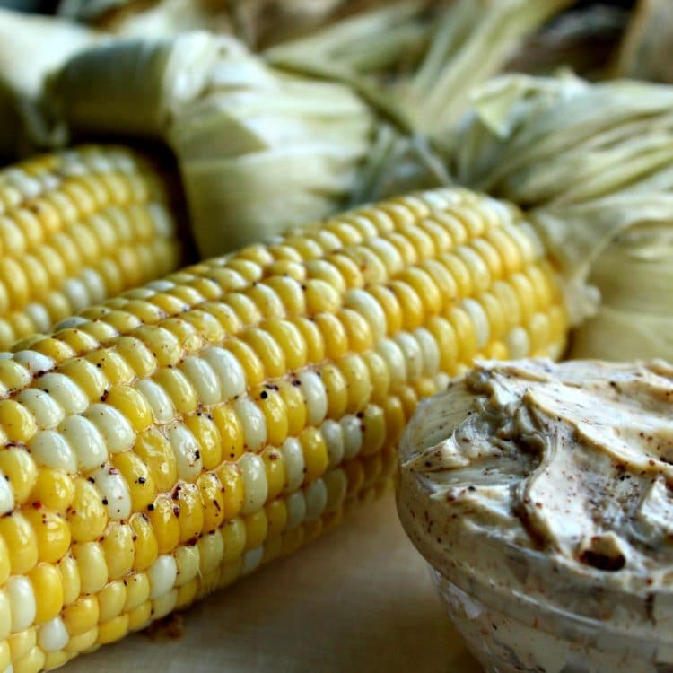 Oven Cob Corn with Chili Butter
