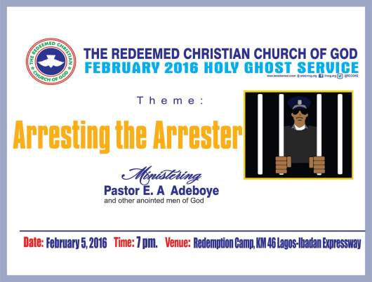 RCCG February 2016 Holy Ghost Service