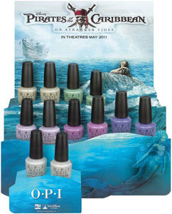 OPI Pirates of the Caribbean nail polish 2011