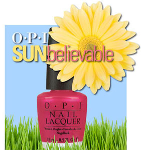 OPI Sunbelievable nail polish summer