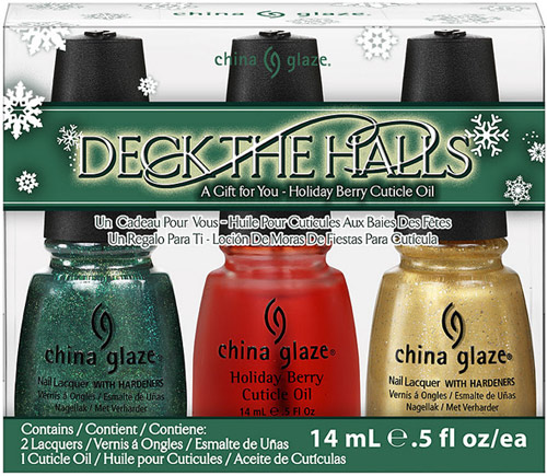 China Glaze Let It Snow Deck the Halls