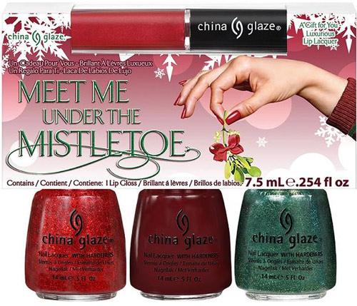 China Glaze Let It Snow Meet Me Under the Mistletoe