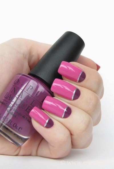 Pink Half Moon Nails